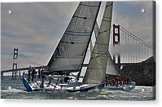 Classic Bay Yachting Acrylic Print by Steven Lapkin