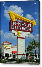 Classic Cali Burger 1.1 Acrylic Print by Stephen Stookey
