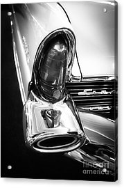 Classic Car Tail Fin Acrylic Print by Edward Fielding