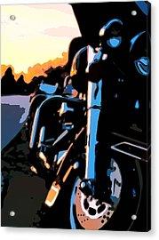 Classic Harley Acrylic Print by Michael Pickett
