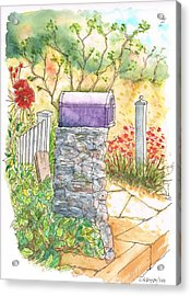 Classic Mail Box In Bel Air - California Acrylic Print by Carlos G Groppa
