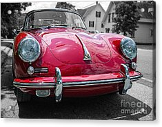 Classic Red Sports Car Acrylic Print by Edward Fielding
