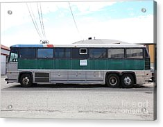 Classic Retro Greyhound Bus 5d25256 Acrylic Print by Wingsdomain Art and Photography