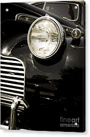Classic Vintage Car Black And White Acrylic Print by Edward Fielding