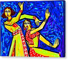 Classical Dancers Acrylic Print by Anand Swaroop Manchiraju