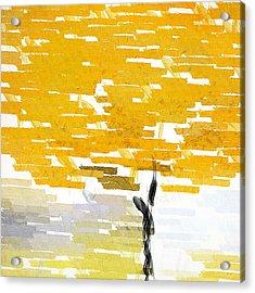 Classy Yellow Tree Acrylic Print by Lourry Legarde