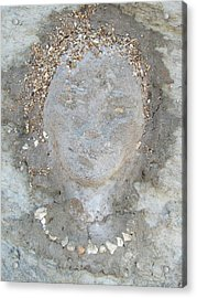 Clay Girl Acrylic Print by Elena Gushchina