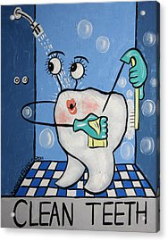 Clean Tooth Acrylic Print by Anthony Falbo