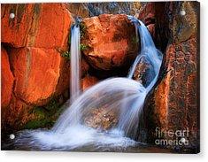 Clear Creek Falls Acrylic Print by Inge Johnsson