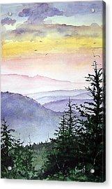 Clear Mountain Morning II Acrylic Print by Sam Sidders