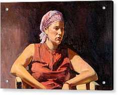 Clementine, 2004 Oil On Canvas Acrylic Print by Tilly Willis