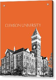 Clemson University - Coral Acrylic Print by DB Artist