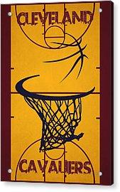 Cleveland Cavaliers Court Acrylic Print by Joe Hamilton