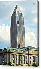 Cleveland Key Bank Building Acrylic Print by Frozen in Time Fine Art Photography