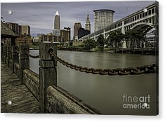 Cleveland Ohio Acrylic Print by James Dean