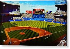 Cleveland Stadium Acrylic Print by Thomas  Kolendra