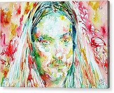 Cliff Burton Portrait.2 Acrylic Print by Fabrizio Cassetta