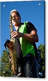 Cliff Miller Of The Fabulous Kingpins Acrylic Print by David Patterson