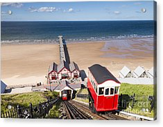 Cliff Railway Saltburn By The Sea Acrylic Print by Colin and Linda McKie