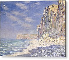 Cliffs Near Fecamp Acrylic Print by Claude Monet