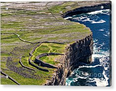 Cliffs Of Inishmoore Acrylic Print by Juergen Klust