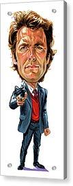 Clint Eastwood As Harry Callahan Acrylic Print by Art