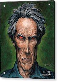 Clint Eastwood Acrylic Print by Mark Tavares