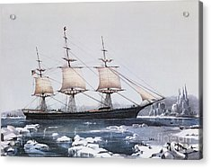 Clipper Ship Red Jacket In The Ice Off Cape Horn On Her Passage From Australia To Liverpool Acrylic Print by American School