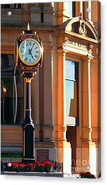 Clock Of New Brunswick Acrylic Print by Gena Weiser