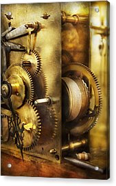 Clockmaker - We All Mesh Acrylic Print by Mike Savad
