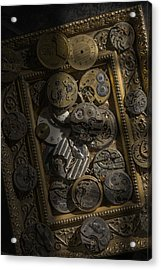 Clockwerx Acrylic Print by Ron Schwager