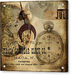 Clockworks Acrylic Print by Fran Riley