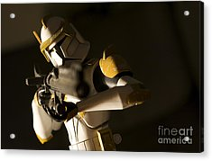 Clone Trooper 1 Acrylic Print by Micah May