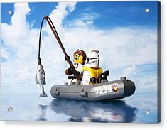 Clone Trooper Fishing Trip Acrylic Print by Samuel Whitton