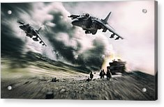 Close Air Support Acrylic Print by Peter Chilelli