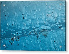 Close Up Of Air Bubbles In Iceberg Acrylic Print by Ray Bulson