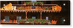 Close-up Of Potted Plants On Balcony Acrylic Print by Panoramic Images