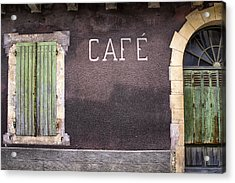 Closed Cafe In South-west France Acrylic Print by Georgia Fowler