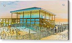 Closed Seaside Heights Boardwalk Acrylic Print by Gary Keesler