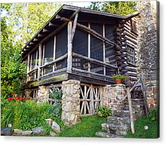 Closer View Of The Cabin Acrylic Print by Robert Margetts