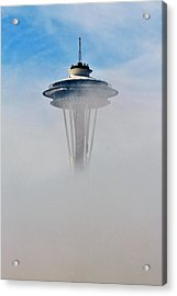 Cloud City Needle Acrylic Print by Benjamin Yeager