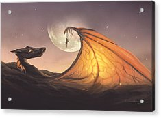 Cloud Dragon Acrylic Print by Cassiopeia Art