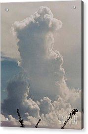 Cloud Faces In St. Thomas Acrylic Print by Marcus Dagan