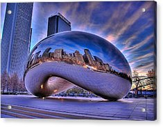 Cloud Gate Acrylic Print by Jeff Lewis