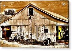 Clouds A Loom'n On Race Day Acrylic Print by John Debar