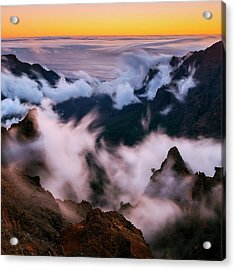 Clouds And Peaks Acrylic Print by Babak Tafreshi