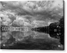 Clouds Over Crystal Lake Acrylic Print by Kevin Kludy