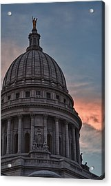 Clouds Over Democracy Acrylic Print by Sebastian Musial