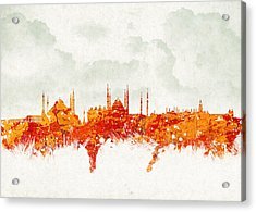 Clouds Over Istanbul Turkey Acrylic Print by Aged Pixel