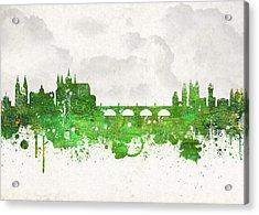 Clouds Over Prague Czech Republic Acrylic Print by Aged Pixel